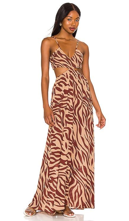 Innocence Cutaway Maxi Dress Indah $176 NEW