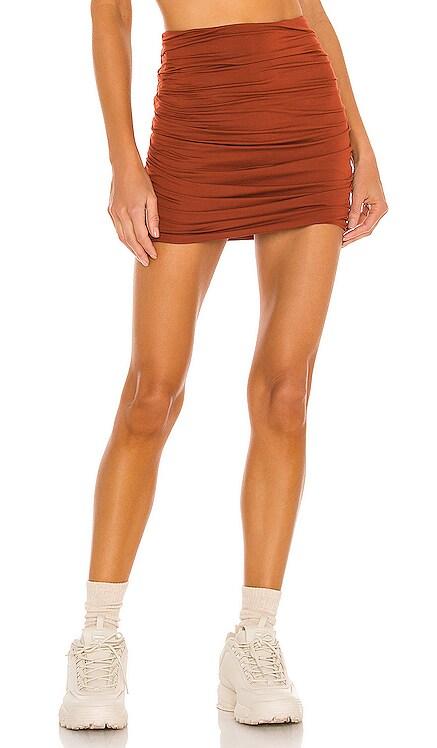 Cori Solid Gathered Seamless Mini Skirt Indah $66