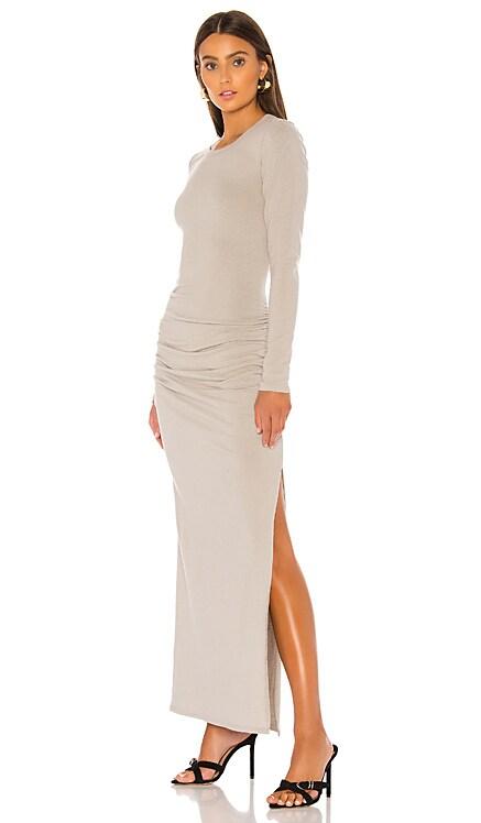 Sueded Jersey Long Sleeve Split Dress James Perse $265