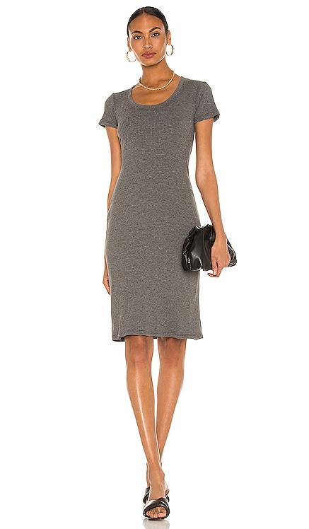 U Neck Short Sleeve Dress James Perse $195