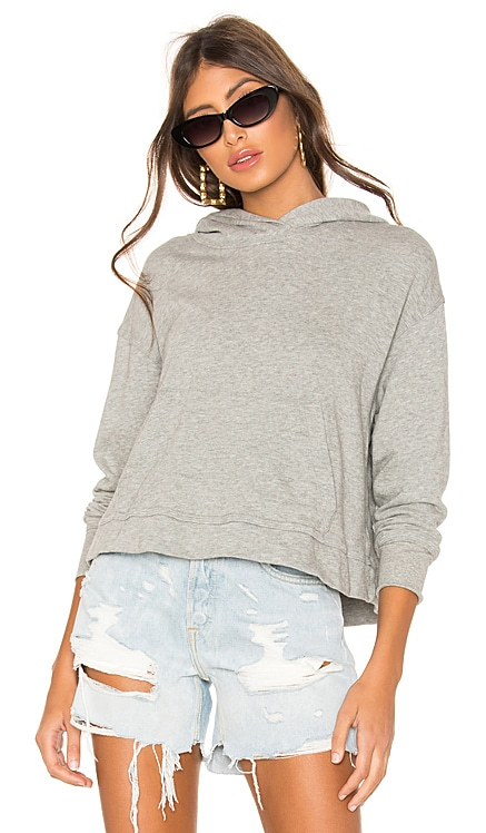 SWEAT À CAPUCHE RELAXED CROP James Perse $165