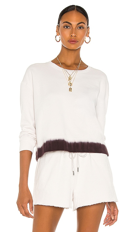 Discharged Dye Cropped Sweatshirt James Perse $245 NEW
