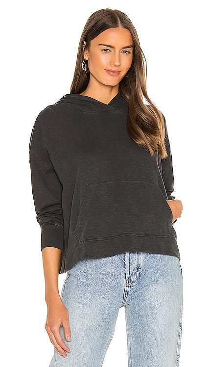 Relaxed Crop Hoodie James Perse $165 NEW
