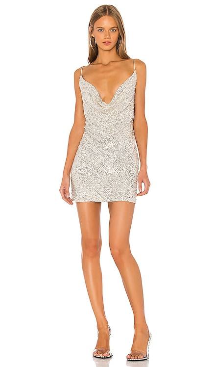 Baldwin Cowl Neck Mini Dress Jay Godfrey $275 BEST SELLER