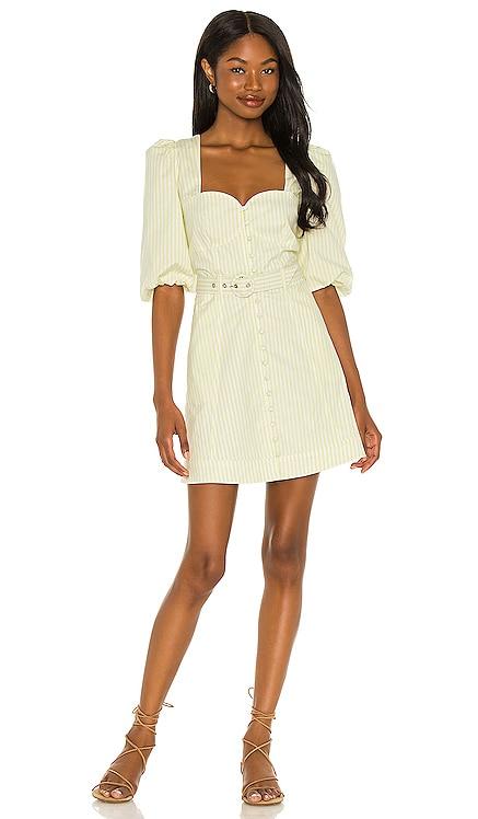 Juno Cotton Oxford Puff Dress JONATHAN SIMKHAI STANDARD $295 NEW