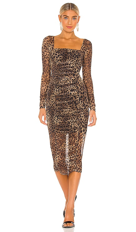 Kai Ruched Dress JONATHAN SIMKHAI STANDARD $385 NEW