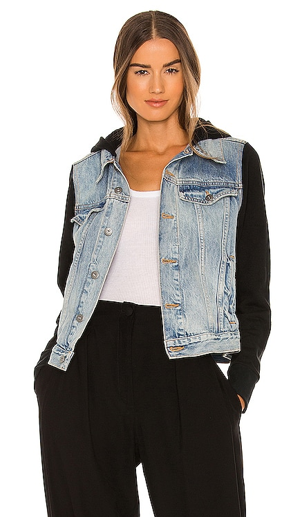 Cynthia Terry Combo Denim Jacket JONATHAN SIMKHAI STANDARD $355 Sustainable