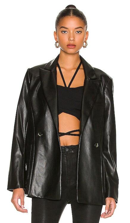 Raelynn Stretch Vegan Leather Blazer JONATHAN SIMKHAI STANDARD $445 NEW