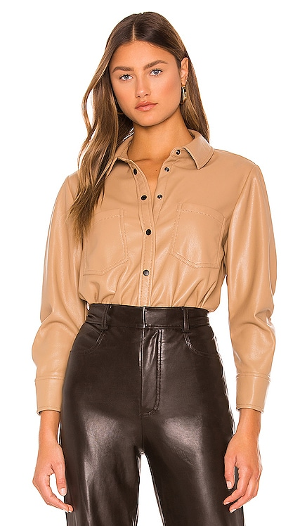 Ryder Vegan Leather Top JONATHAN SIMKHAI STANDARD $295 NEW