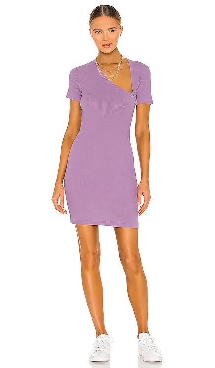 Cotton Rib Asymmetrical Dress JOHN ELLIOTT $228 NEW