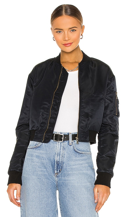 Hunter Cropped Bomber Jacket JOHN ELLIOTT $468 NEW