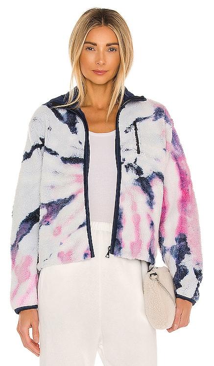 Tie Dye Polar Fleece Zip Up Jacket JOHN ELLIOTT $598