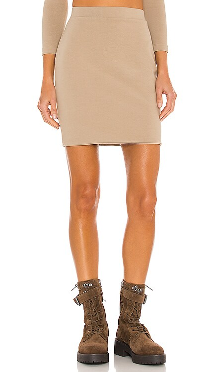 Stretch Sueded Cotton Mini Skirt JOHN ELLIOTT $178