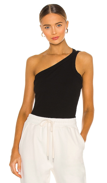 Cotton Rib Asymmetrical Tank JOHN ELLIOTT $128 NEW