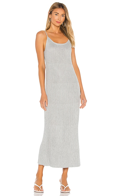 Shimmed Ribbed Midi Dress John & Jenn by Line $127 NEW
