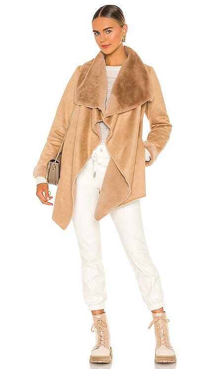 Faux Fur Wilder Jacket John & Jenn by Line $198 NEW