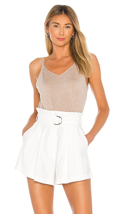 Reggie Ribbed Shimmer Tank John & Jenn by Line $90 NEW