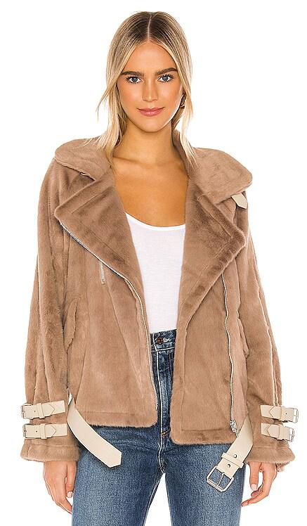 Faux Fur Biker Jacket J.O.A. $97