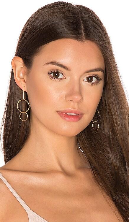 Double Drop Hoop Earrings joolz by Martha Calvo $88