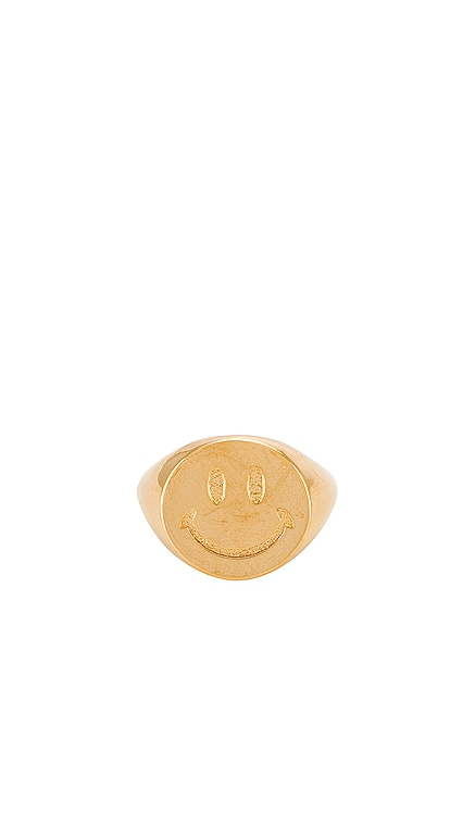 Smiley Face Signet Ring joolz by Martha Calvo $88 BEST SELLER