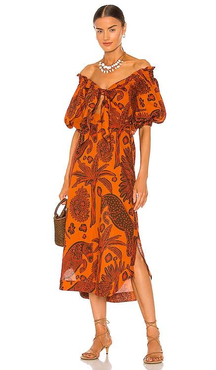 Dramatic Sunset Midi Dress Johanna Ortiz $875 NEW
