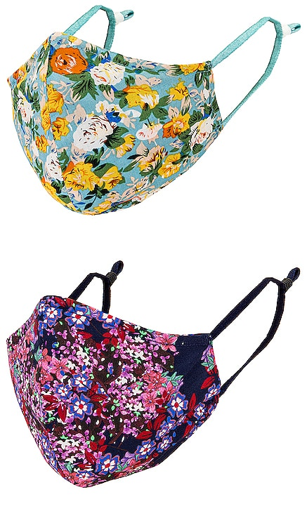 2 Pack Printed Cloth Masks JONATHAN SIMKHAI $40 (FINAL SALE) NEW