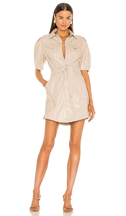 Novah Vegan Leather Dress JONATHAN SIMKHAI $445 NEW