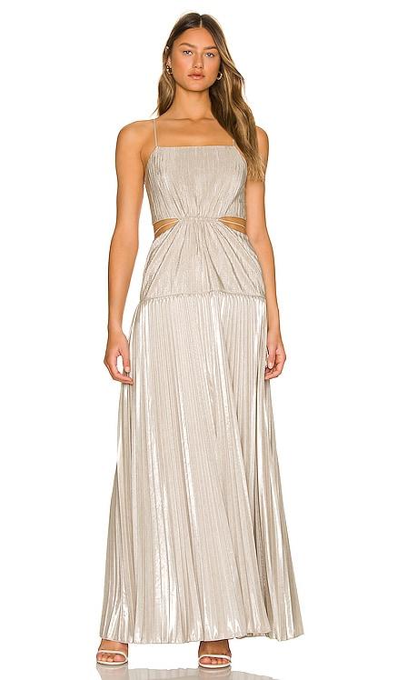 Daisy Pleated Maxi Dress JONATHAN SIMKHAI $645