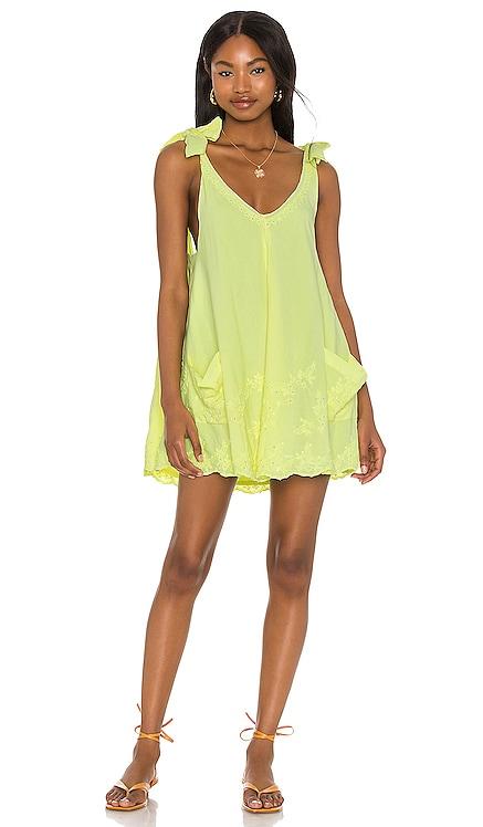 Neon Low Back Bow Tie Dress juliet dunn $338