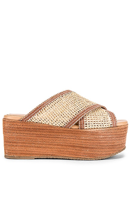 Formentera Cross Over Fishnet Wedge Kaanas $149