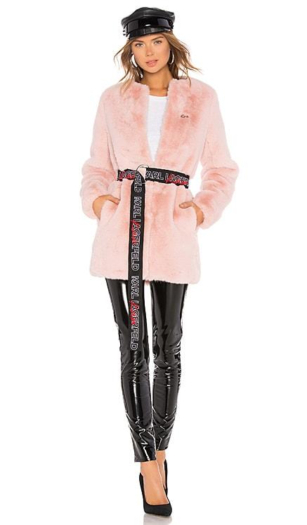 Faux Fur Coat KARL X KAIA $124
