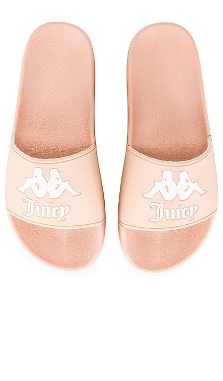 x JUICY COUTURE Authentic Adam Slides Kappa $40 NEW