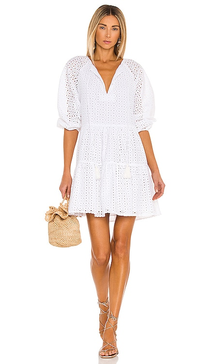 Irina Eyelet Mini Dress Karina Grimaldi $262 NEW