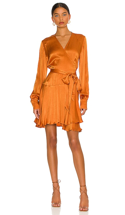 Penelope Solid Mini Dress Karina Grimaldi $306 NEW