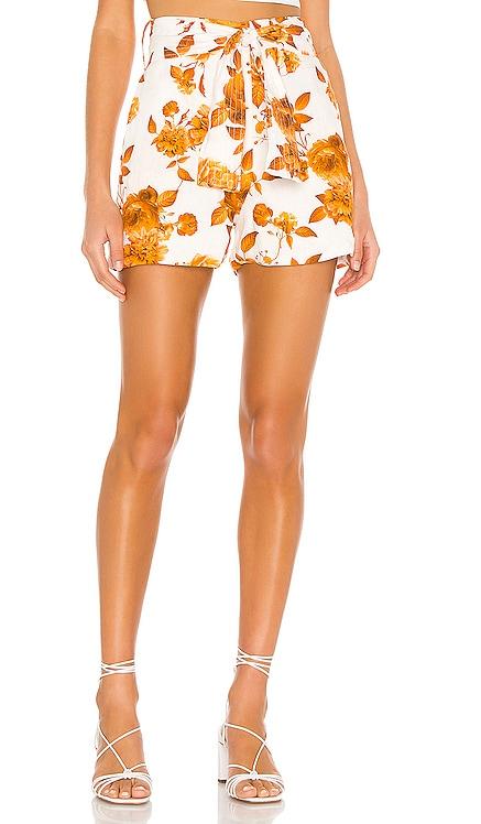 Alina Print Linen Shorts Karina Grimaldi $196