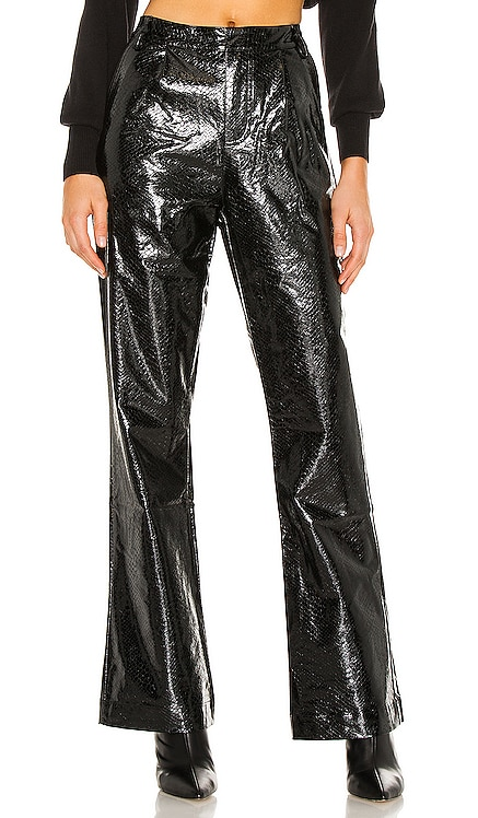 Vegan Leather Wide Leg Pant KENDALL + KYLIE $98 NEW