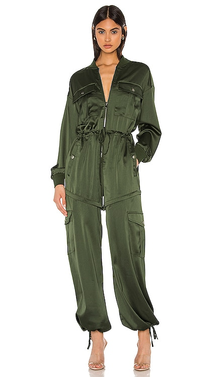 x REVOLVE Satin Convertible Cargo Romper KENDALL + KYLIE $77