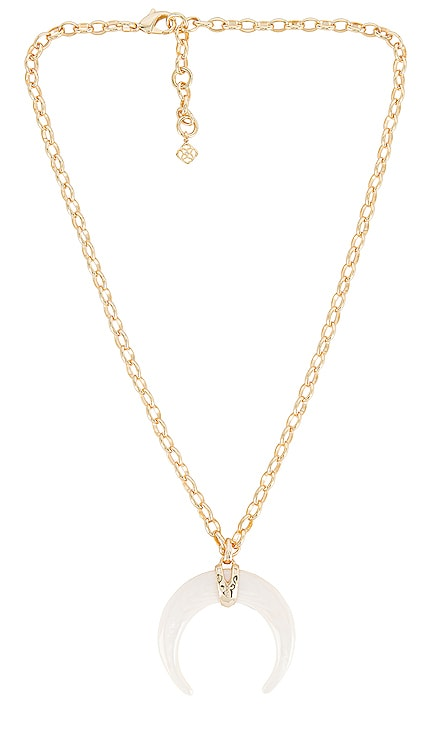 Rebecca Gold Long Pendant Necklace Kendra Scott $148 NEW