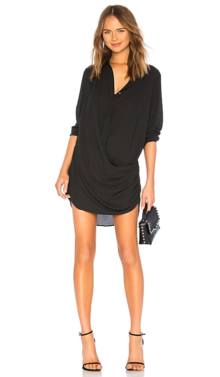 Drape Button Front Mini krisa $216