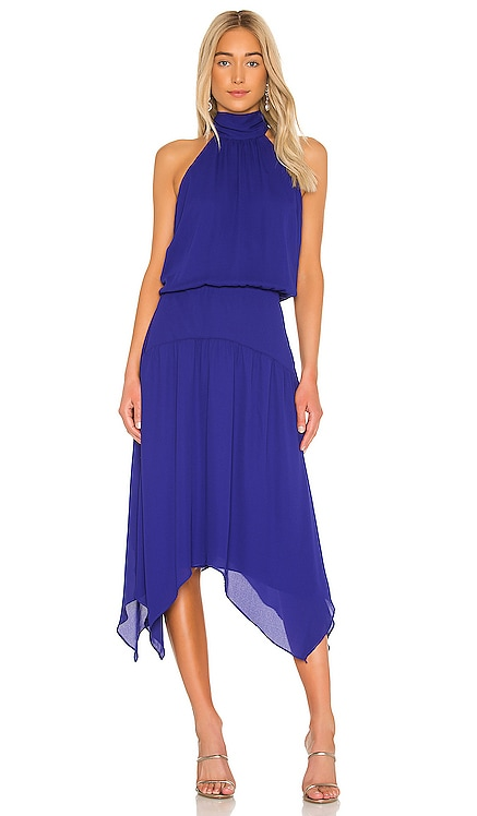 Halter Handkerchief Midi Dress krisa $242