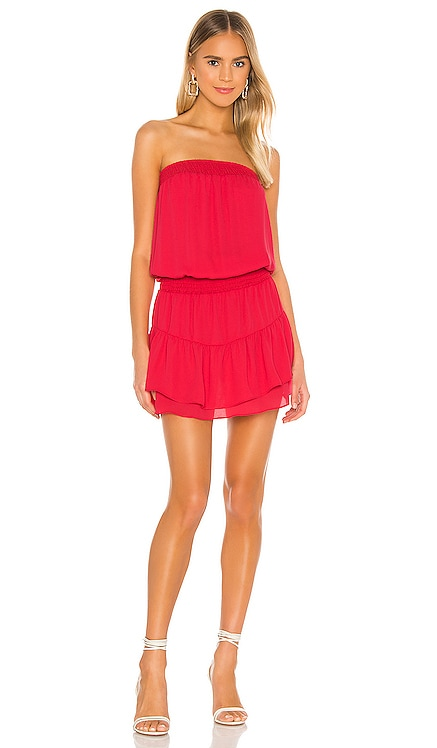 Smocked Strapless Mini Dress krisa $176 BEST SELLER