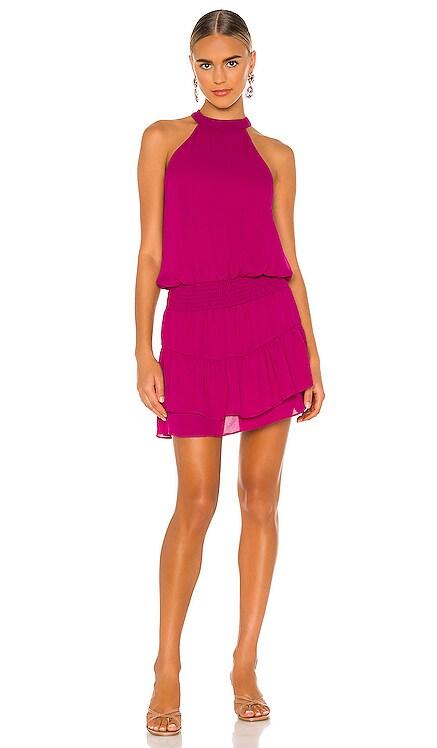 Smocked Waist Halter Mini Dress krisa $187 NEW