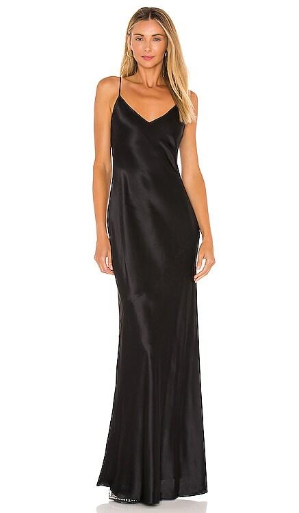 Serita Maxi V Neck Bias Dress L'AGENCE $595 NEW