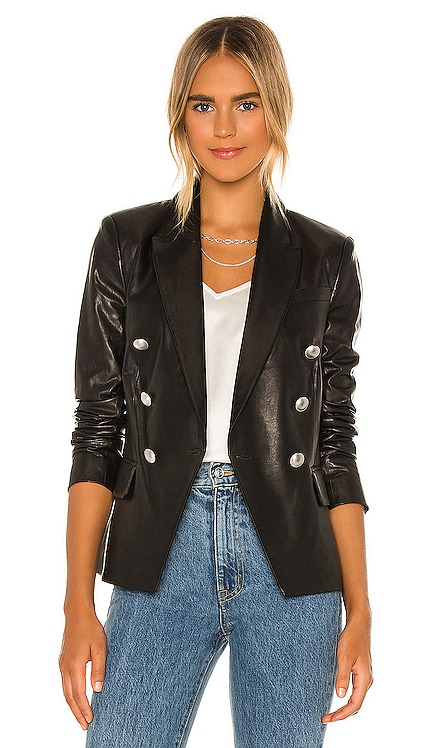 Kenzie Double Breasted Blazer L'AGENCE $1,495 NEW