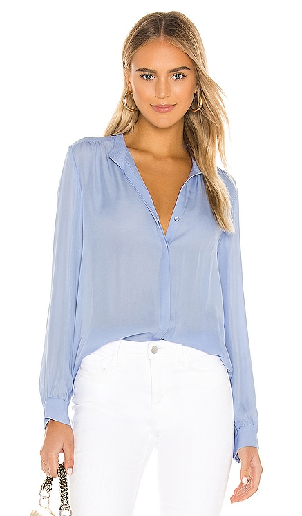 Bianca Band Collar Blouse L'AGENCE $335