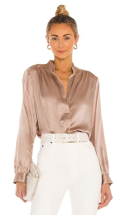 Bianca Band Collar Blouse L'AGENCE $375 BEST SELLER