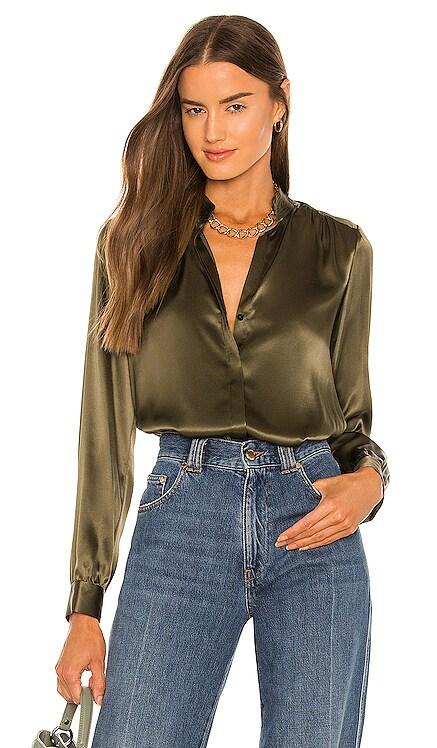 Bianca Band Collar Blouse L'AGENCE $375 NOUVEAU