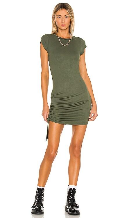 Indie Cinched Cap Sleeve Dress LA Made $121