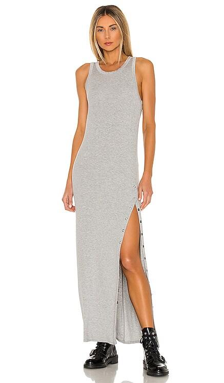 Cabana Side Snap Maxi Dress LA Made $176