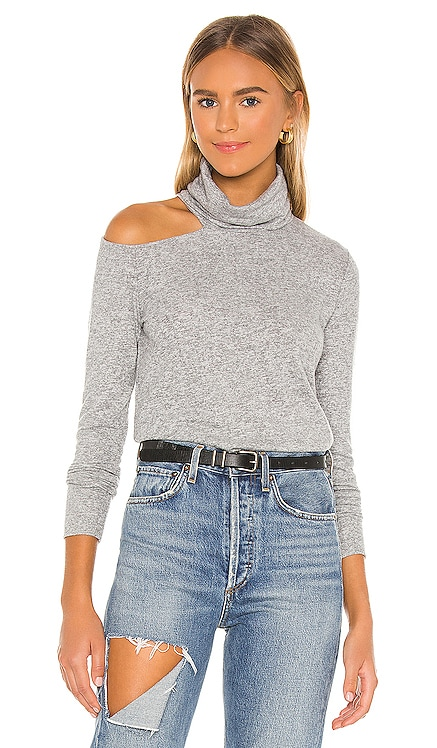 Carson Open Shoulder Turtleneck LA Made $97 NEW